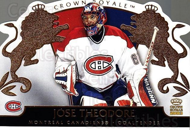 2002-03 Crown Royale #52 Jose Theodore<br/>5 In Stock - $1.00 each - <a href=https://centericecollectibles.foxycart.com/cart?name=2002-03%20Crown%20Royale%20%2352%20Jose%20Theodore...&quantity_max=5&price=$1.00&code=102259 class=foxycart> Buy it now! </a>