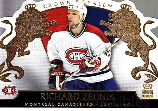 2002-03 Crown Royale #53 Richard Zednik<br/>1 In Stock - $1.00 each - <a href=https://centericecollectibles.foxycart.com/cart?name=2002-03%20Crown%20Royale%20%2353%20Richard%20Zednik...&quantity_max=1&price=$1.00&code=102260 class=foxycart> Buy it now! </a>