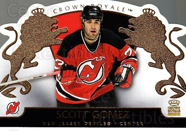 2002-03 Crown Royale #58 Scott Gomez<br/>5 In Stock - $1.00 each - <a href=https://centericecollectibles.foxycart.com/cart?name=2002-03%20Crown%20Royale%20%2358%20Scott%20Gomez...&quantity_max=5&price=$1.00&code=102264 class=foxycart> Buy it now! </a>