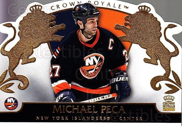 2002-03 Crown Royale #61 Mike Peca<br/>6 In Stock - $1.00 each - <a href=https://centericecollectibles.foxycart.com/cart?name=2002-03%20Crown%20Royale%20%2361%20Mike%20Peca...&quantity_max=6&price=$1.00&code=102268 class=foxycart> Buy it now! </a>