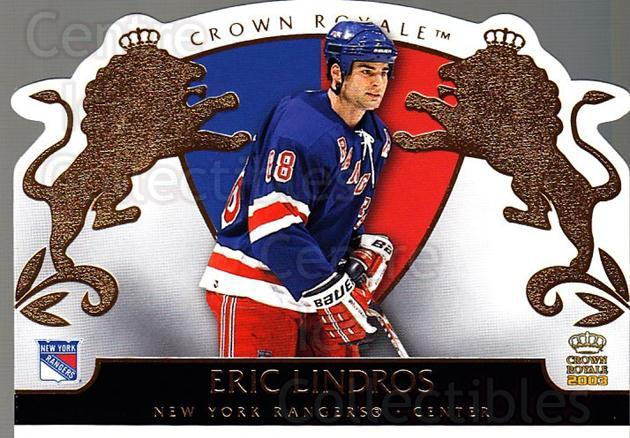 2002-03 Crown Royale #64 Eric Lindros<br/>4 In Stock - $2.00 each - <a href=https://centericecollectibles.foxycart.com/cart?name=2002-03%20Crown%20Royale%20%2364%20Eric%20Lindros...&quantity_max=4&price=$2.00&code=102270 class=foxycart> Buy it now! </a>