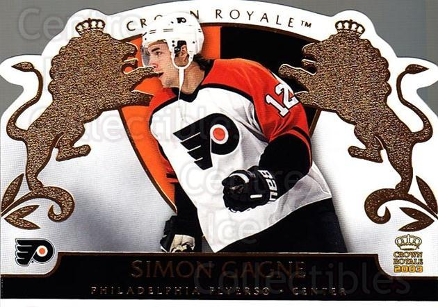 2002-03 Crown Royale #70 Simon Gagne<br/>2 In Stock - $1.00 each - <a href=https://centericecollectibles.foxycart.com/cart?name=2002-03%20Crown%20Royale%20%2370%20Simon%20Gagne...&quantity_max=2&price=$1.00&code=102277 class=foxycart> Buy it now! </a>