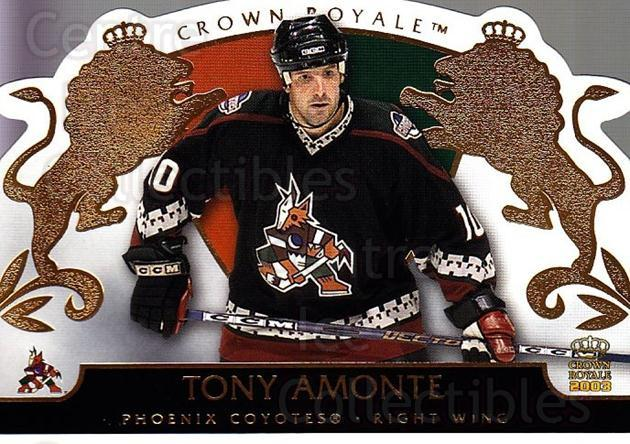 2002-03 Crown Royale #73 Tony Amonte<br/>6 In Stock - $1.00 each - <a href=https://centericecollectibles.foxycart.com/cart?name=2002-03%20Crown%20Royale%20%2373%20Tony%20Amonte...&quantity_max=6&price=$1.00&code=102280 class=foxycart> Buy it now! </a>