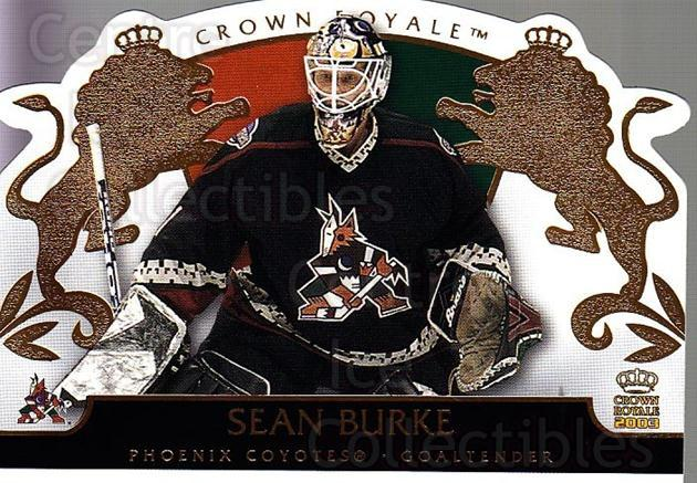 2002-03 Crown Royale #75 Sean Burke<br/>3 In Stock - $1.00 each - <a href=https://centericecollectibles.foxycart.com/cart?name=2002-03%20Crown%20Royale%20%2375%20Sean%20Burke...&quantity_max=3&price=$1.00&code=102282 class=foxycart> Buy it now! </a>
