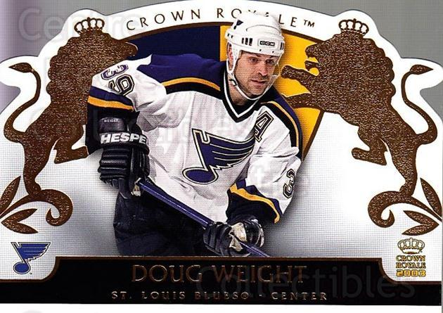 2002-03 Crown Royale #83 Doug Weight<br/>6 In Stock - $1.00 each - <a href=https://centericecollectibles.foxycart.com/cart?name=2002-03%20Crown%20Royale%20%2383%20Doug%20Weight...&quantity_max=6&price=$1.00&code=102290 class=foxycart> Buy it now! </a>