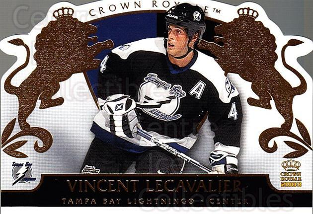 2002-03 Crown Royale #88 Vincent Lecavalier<br/>4 In Stock - $1.00 each - <a href=https://centericecollectibles.foxycart.com/cart?name=2002-03%20Crown%20Royale%20%2388%20Vincent%20Lecaval...&quantity_max=4&price=$1.00&code=102294 class=foxycart> Buy it now! </a>