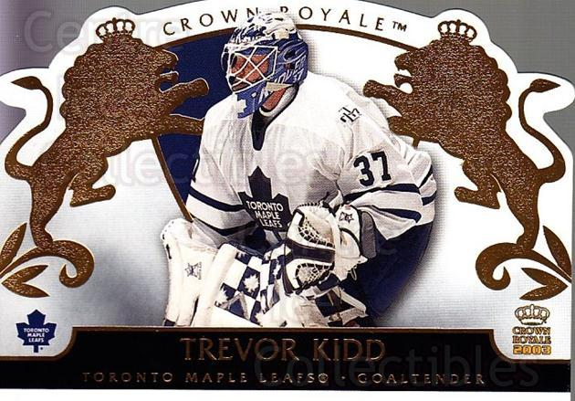 2002-03 Crown Royale #91 Trevor Kidd<br/>3 In Stock - $1.00 each - <a href=https://centericecollectibles.foxycart.com/cart?name=2002-03%20Crown%20Royale%20%2391%20Trevor%20Kidd...&quantity_max=3&price=$1.00&code=102298 class=foxycart> Buy it now! </a>