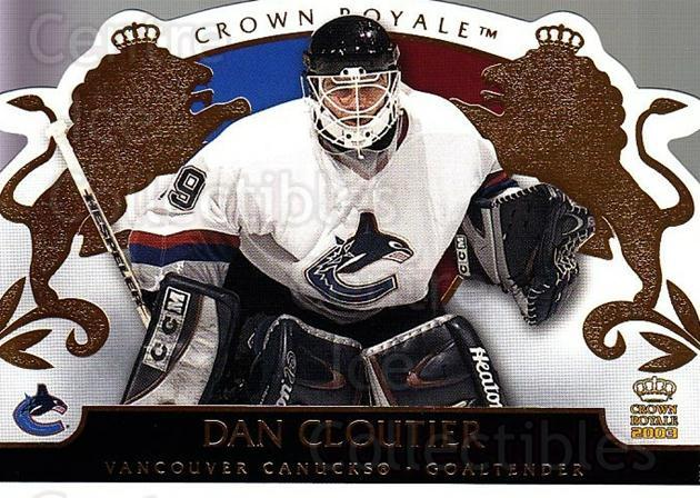 2002-03 Crown Royale #95 Dan Cloutier<br/>4 In Stock - $1.00 each - <a href=https://centericecollectibles.foxycart.com/cart?name=2002-03%20Crown%20Royale%20%2395%20Dan%20Cloutier...&quantity_max=4&price=$1.00&code=102302 class=foxycart> Buy it now! </a>