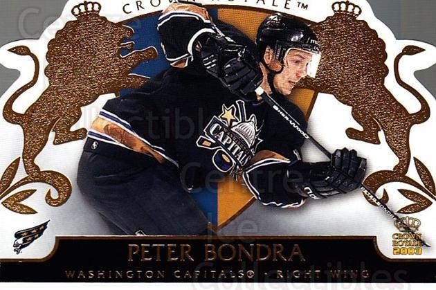 2002-03 Crown Royale #98 Peter Bondra<br/>4 In Stock - $1.00 each - <a href=https://centericecollectibles.foxycart.com/cart?name=2002-03%20Crown%20Royale%20%2398%20Peter%20Bondra...&quantity_max=4&price=$1.00&code=102305 class=foxycart> Buy it now! </a>