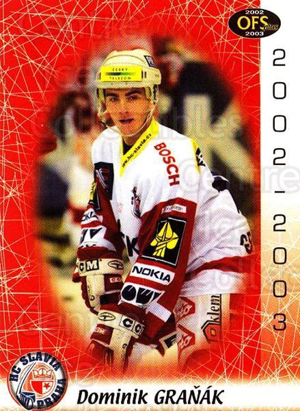 2002-03 Czech OFS #235 Dominik Granak<br/>4 In Stock - $2.00 each - <a href=https://centericecollectibles.foxycart.com/cart?name=2002-03%20Czech%20OFS%20%23235%20Dominik%20Granak...&price=$2.00&code=102511 class=foxycart> Buy it now! </a>