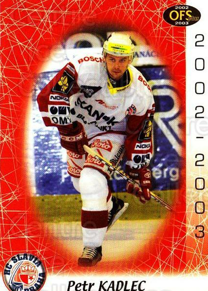 2002-03 Czech OFS #240 Petr Kadlec<br/>4 In Stock - $2.00 each - <a href=https://centericecollectibles.foxycart.com/cart?name=2002-03%20Czech%20OFS%20%23240%20Petr%20Kadlec...&price=$2.00&code=102515 class=foxycart> Buy it now! </a>