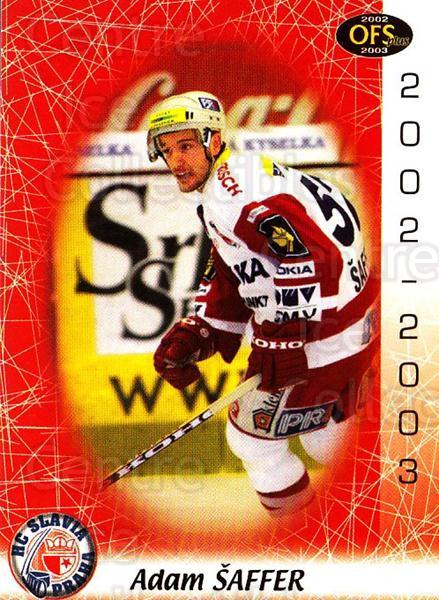 2002-03 Czech OFS #250 Adam Saffer<br/>4 In Stock - $2.00 each - <a href=https://centericecollectibles.foxycart.com/cart?name=2002-03%20Czech%20OFS%20%23250%20Adam%20Saffer...&price=$2.00&code=102521 class=foxycart> Buy it now! </a>