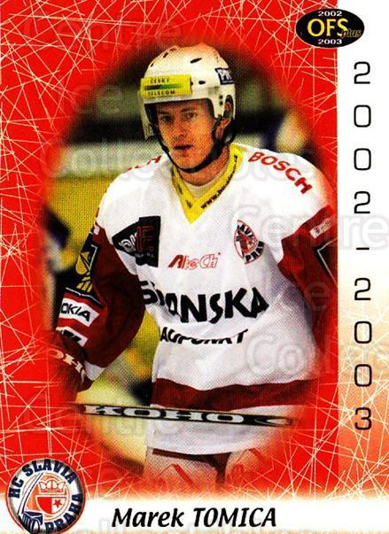 2002-03 Czech OFS #252 Marek Tomica<br/>4 In Stock - $2.00 each - <a href=https://centericecollectibles.foxycart.com/cart?name=2002-03%20Czech%20OFS%20%23252%20Marek%20Tomica...&price=$2.00&code=102523 class=foxycart> Buy it now! </a>