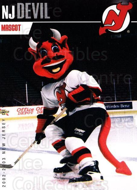 2002-03 New Jersey Devils Team Issue #30 Mascot<br/>4 In Stock - $3.00 each - <a href=https://centericecollectibles.foxycart.com/cart?name=2002-03%20New%20Jersey%20Devils%20Team%20Issue%20%2330%20Mascot...&quantity_max=4&price=$3.00&code=102569 class=foxycart> Buy it now! </a>