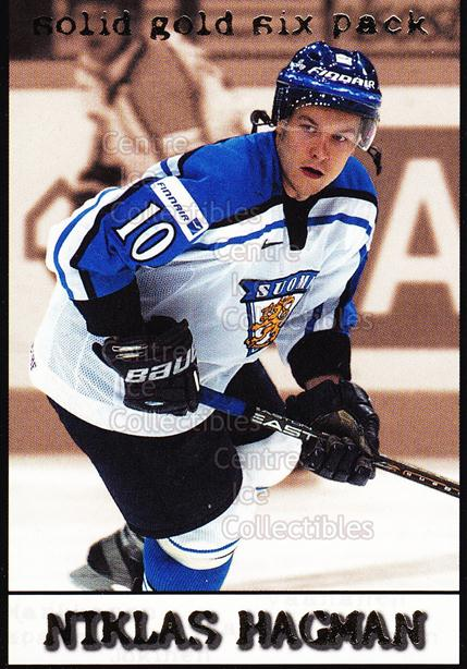 2002-03 Finnish Cardset Solid Gold Six-Pack #1 Niklas Hagman<br/>5 In Stock - $3.00 each - <a href=https://centericecollectibles.foxycart.com/cart?name=2002-03%20Finnish%20Cardset%20Solid%20Gold%20Six-Pack%20%231%20Niklas%20Hagman...&quantity_max=5&price=$3.00&code=102624 class=foxycart> Buy it now! </a>