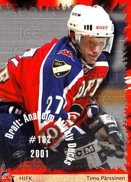 2002-03 Finnish Cardset #101 Timo Parssinen<br/>5 In Stock - $2.00 each - <a href=https://centericecollectibles.foxycart.com/cart?name=2002-03%20Finnish%20Cardset%20%23101%20Timo%20Parssinen...&quantity_max=5&price=$2.00&code=102634 class=foxycart> Buy it now! </a>