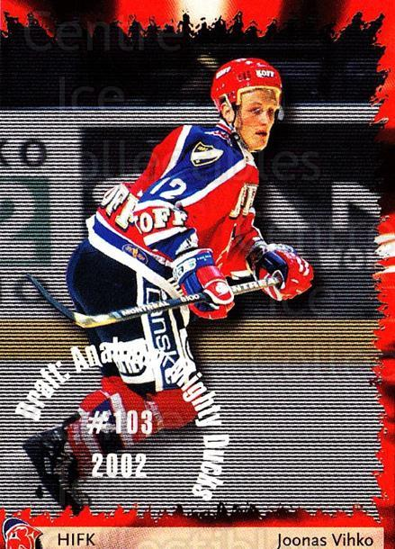 2002-03 Finnish Cardset #138 Joonas Vihko<br/>6 In Stock - $2.00 each - <a href=https://centericecollectibles.foxycart.com/cart?name=2002-03%20Finnish%20Cardset%20%23138%20Joonas%20Vihko...&quantity_max=6&price=$2.00&code=102671 class=foxycart> Buy it now! </a>