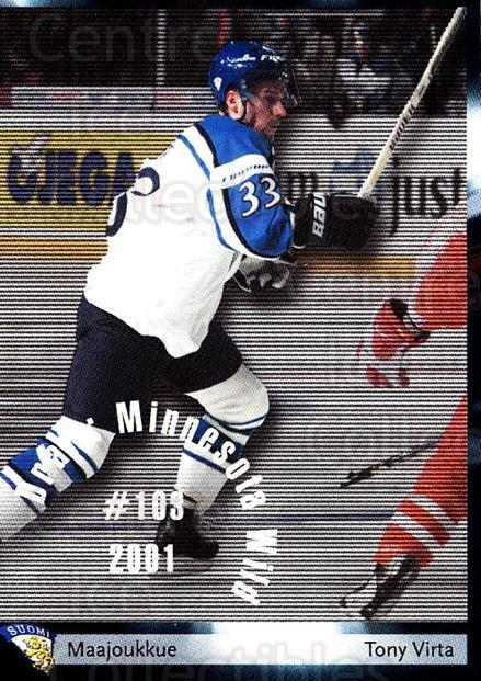 2002-03 Finnish Cardset #141 Tony Virta<br/>8 In Stock - $2.00 each - <a href=https://centericecollectibles.foxycart.com/cart?name=2002-03%20Finnish%20Cardset%20%23141%20Tony%20Virta...&quantity_max=8&price=$2.00&code=102675 class=foxycart> Buy it now! </a>