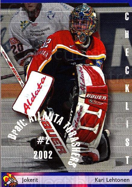 2002-03 Finnish Cardset #147 Kari Lehtonen, Checklist<br/>1 In Stock - $2.00 each - <a href=https://centericecollectibles.foxycart.com/cart?name=2002-03%20Finnish%20Cardset%20%23147%20Kari%20Lehtonen,%20...&quantity_max=1&price=$2.00&code=102679 class=foxycart> Buy it now! </a>