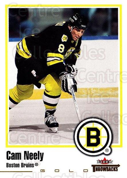 2002-03 Fleer Throwbacks Gold #81 Cam Neely<br/>4 In Stock - $3.00 each - <a href=https://centericecollectibles.foxycart.com/cart?name=2002-03%20Fleer%20Throwbacks%20Gold%20%2381%20Cam%20Neely...&quantity_max=4&price=$3.00&code=102848 class=foxycart> Buy it now! </a>