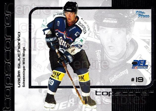 2002-03 German DEL Top Scorers #2 Vadim Slivchenko<br/>3 In Stock - $3.00 each - <a href=https://centericecollectibles.foxycart.com/cart?name=2002-03%20German%20DEL%20Top%20Scorers%20%232%20Vadim%20Slivchenk...&quantity_max=3&price=$3.00&code=102933 class=foxycart> Buy it now! </a>