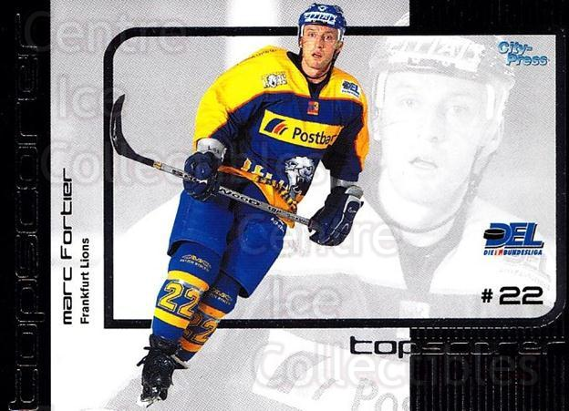 2002-03 German DEL Top Scorers #6 Marc Fortier<br/>5 In Stock - $3.00 each - <a href=https://centericecollectibles.foxycart.com/cart?name=2002-03%20German%20DEL%20Top%20Scorers%20%236%20Marc%20Fortier...&quantity_max=5&price=$3.00&code=102936 class=foxycart> Buy it now! </a>