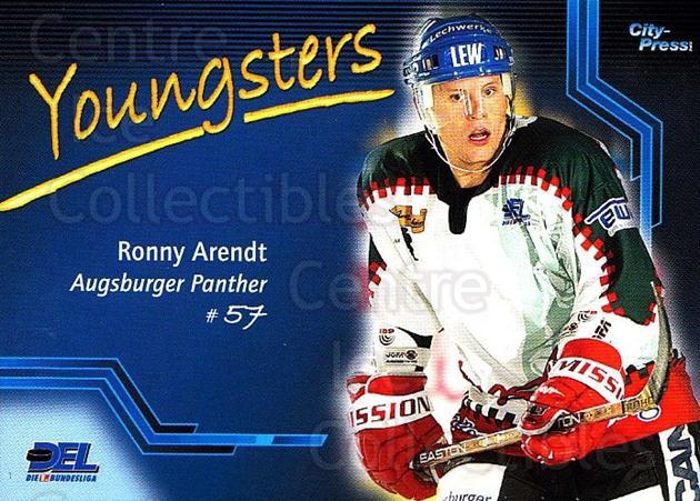 2002-03 German DEL #1 Ronny Arendt<br/>5 In Stock - $2.00 each - <a href=https://centericecollectibles.foxycart.com/cart?name=2002-03%20German%20DEL%20%231%20Ronny%20Arendt...&quantity_max=5&price=$2.00&code=102947 class=foxycart> Buy it now! </a>