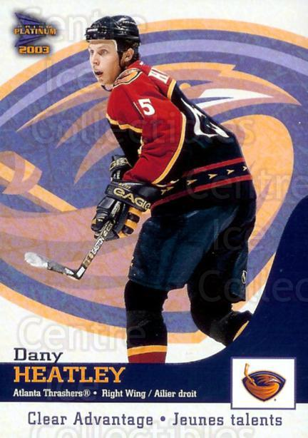 2002-03 McDonalds Pacific Clear Advantage #1 Dany Heatley<br/>1 In Stock - $3.00 each - <a href=https://centericecollectibles.foxycart.com/cart?name=2002-03%20McDonalds%20Pacific%20Clear%20Advantage%20%231%20Dany%20Heatley...&quantity_max=1&price=$3.00&code=103399 class=foxycart> Buy it now! </a>