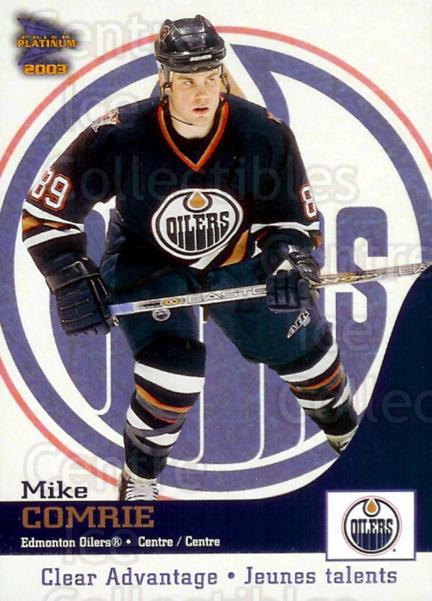 2002-03 McDonalds Pacific Clear Advantage #4 Mike Comrie<br/>5 In Stock - $3.00 each - <a href=https://centericecollectibles.foxycart.com/cart?name=2002-03%20McDonalds%20Pacific%20Clear%20Advantage%20%234%20Mike%20Comrie...&quantity_max=5&price=$3.00&code=103402 class=foxycart> Buy it now! </a>
