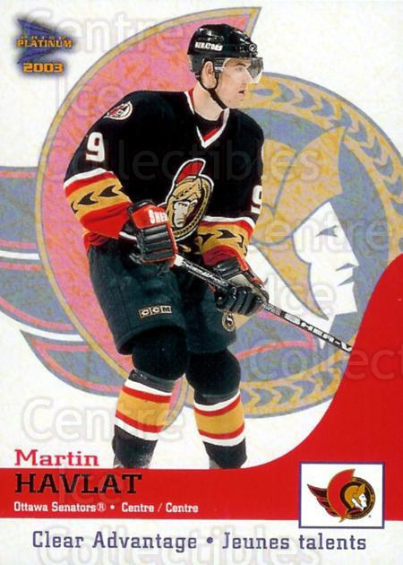 2002-03 McDonalds Pacific Clear Advantage #5 Martin Havlat<br/>4 In Stock - $3.00 each - <a href=https://centericecollectibles.foxycart.com/cart?name=2002-03%20McDonalds%20Pacific%20Clear%20Advantage%20%235%20Martin%20Havlat...&quantity_max=4&price=$3.00&code=103403 class=foxycart> Buy it now! </a>