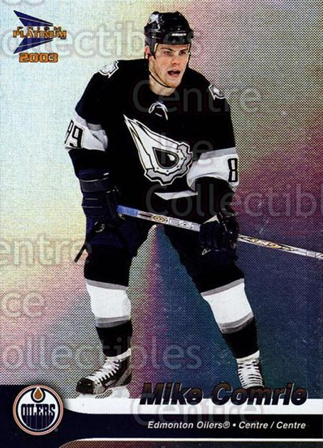2002-03 McDonalds Pacific #15 Mike Comrie<br/>10 In Stock - $1.00 each - <a href=https://centericecollectibles.foxycart.com/cart?name=2002-03%20McDonalds%20Pacific%20%2315%20Mike%20Comrie...&quantity_max=10&price=$1.00&code=103430 class=foxycart> Buy it now! </a>
