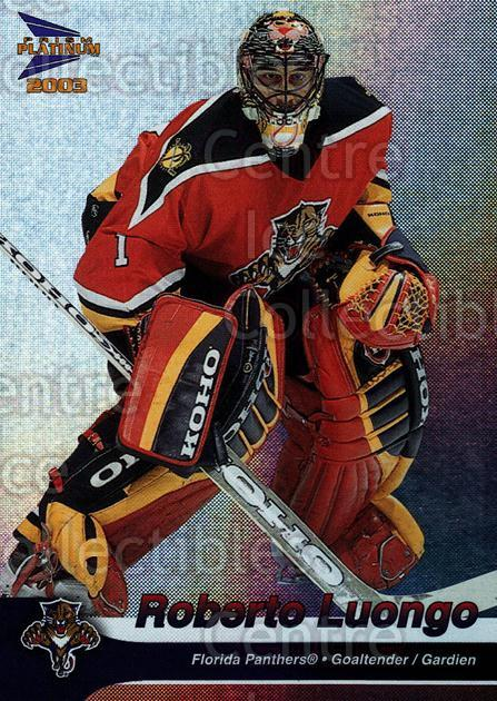 2002-03 McDonalds Pacific #17 Roberto Luongo<br/>9 In Stock - $2.00 each - <a href=https://centericecollectibles.foxycart.com/cart?name=2002-03%20McDonalds%20Pacific%20%2317%20Roberto%20Luongo...&quantity_max=9&price=$2.00&code=103432 class=foxycart> Buy it now! </a>