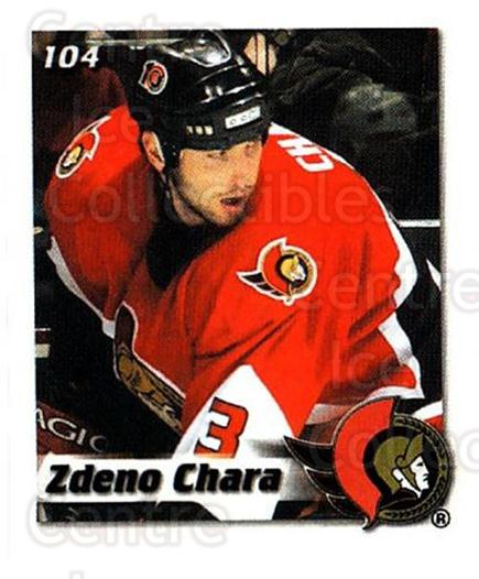 2002-03 NHL Power Play Stickers #104 Zdeno Chara<br/>5 In Stock - $2.00 each - <a href=https://centericecollectibles.foxycart.com/cart?name=2002-03%20NHL%20Power%20Play%20Stickers%20%23104%20Zdeno%20Chara...&quantity_max=5&price=$2.00&code=103515 class=foxycart> Buy it now! </a>