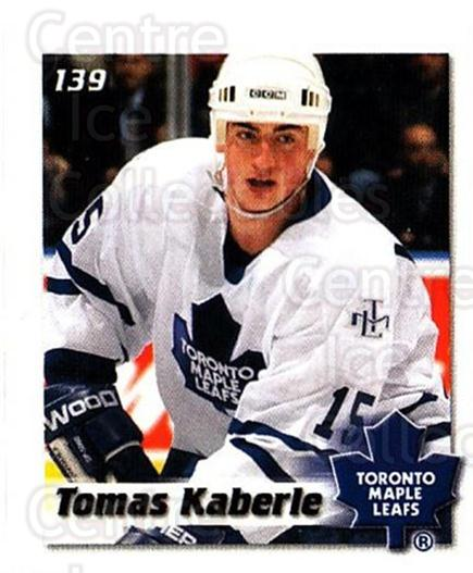 2002-03 NHL Power Play Stickers #139 Tomas Kaberle<br/>6 In Stock - $2.00 each - <a href=https://centericecollectibles.foxycart.com/cart?name=2002-03%20NHL%20Power%20Play%20Stickers%20%23139%20Tomas%20Kaberle...&quantity_max=6&price=$2.00&code=103548 class=foxycart> Buy it now! </a>