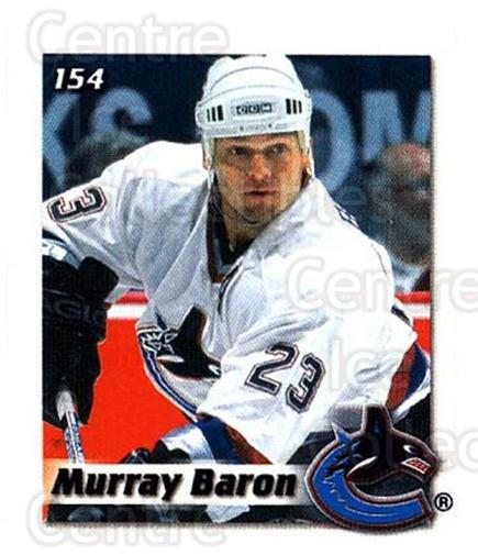 2002-03 NHL Power Play Stickers #154 Murray Baron<br/>6 In Stock - $2.00 each - <a href=https://centericecollectibles.foxycart.com/cart?name=2002-03%20NHL%20Power%20Play%20Stickers%20%23154%20Murray%20Baron...&quantity_max=6&price=$2.00&code=103563 class=foxycart> Buy it now! </a>