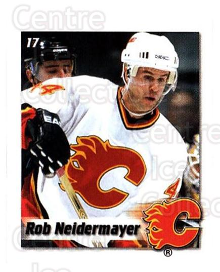 2002-03 NHL Power Play Stickers #17 Rob Niedermayer<br/>7 In Stock - $2.00 each - <a href=https://centericecollectibles.foxycart.com/cart?name=2002-03%20NHL%20Power%20Play%20Stickers%20%2317%20Rob%20Niedermayer...&quantity_max=7&price=$2.00&code=103575 class=foxycart> Buy it now! </a>