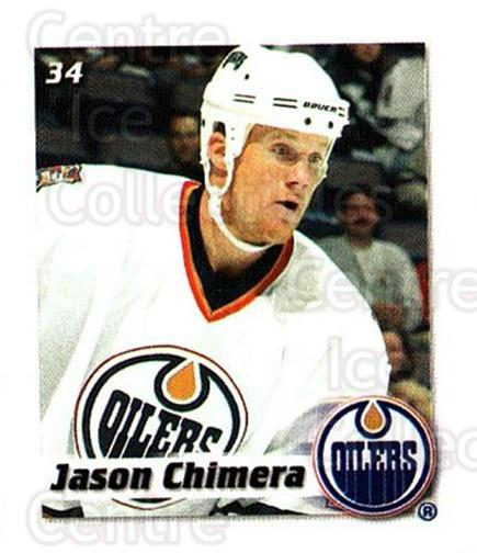 2002-03 NHL Power Play Stickers #34 Jason Chimera<br/>5 In Stock - $2.00 each - <a href=https://centericecollectibles.foxycart.com/cart?name=2002-03%20NHL%20Power%20Play%20Stickers%20%2334%20Jason%20Chimera...&quantity_max=5&price=$2.00&code=103586 class=foxycart> Buy it now! </a>