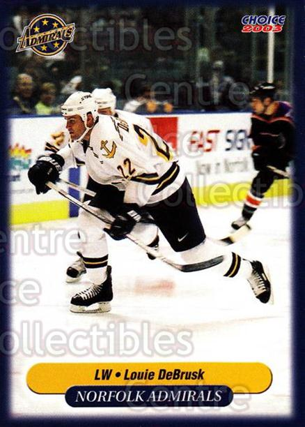 2002-03 Norfolk Admirals #7 Louie DeBrusk<br/>6 In Stock - $3.00 each - <a href=https://centericecollectibles.foxycart.com/cart?name=2002-03%20Norfolk%20Admirals%20%237%20Louie%20DeBrusk...&price=$3.00&code=103672 class=foxycart> Buy it now! </a>