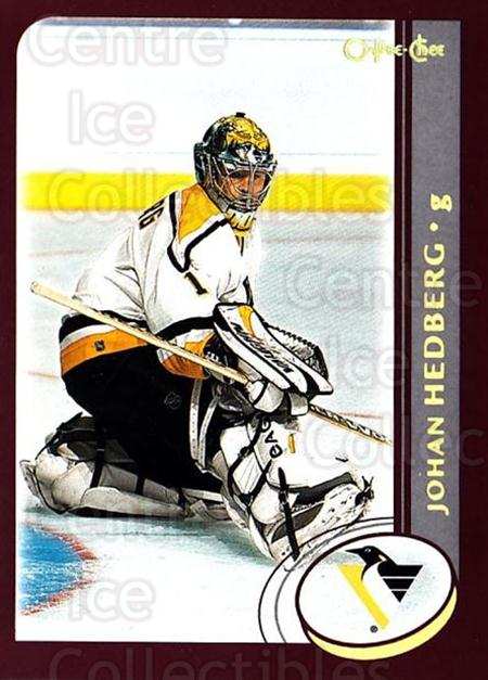 2002-03 O-Pee-Chee Factory #106 Johan Hedberg<br/>7 In Stock - $1.00 each - <a href=https://centericecollectibles.foxycart.com/cart?name=2002-03%20O-Pee-Chee%20Factory%20%23106%20Johan%20Hedberg...&quantity_max=7&price=$1.00&code=103700 class=foxycart> Buy it now! </a>