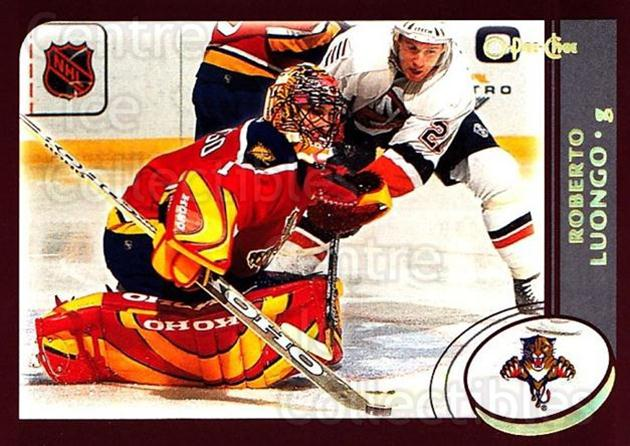 2002-03 O-Pee-Chee Factory #108 Roberto Luongo<br/>6 In Stock - $2.00 each - <a href=https://centericecollectibles.foxycart.com/cart?name=2002-03%20O-Pee-Chee%20Factory%20%23108%20Roberto%20Luongo...&quantity_max=6&price=$2.00&code=103702 class=foxycart> Buy it now! </a>