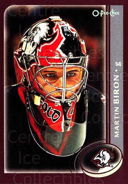 2002-03 O-Pee-Chee Factory #115 Martin Biron<br/>5 In Stock - $1.00 each - <a href=https://centericecollectibles.foxycart.com/cart?name=2002-03%20O-Pee-Chee%20Factory%20%23115%20Martin%20Biron...&quantity_max=5&price=$1.00&code=103709 class=foxycart> Buy it now! </a>