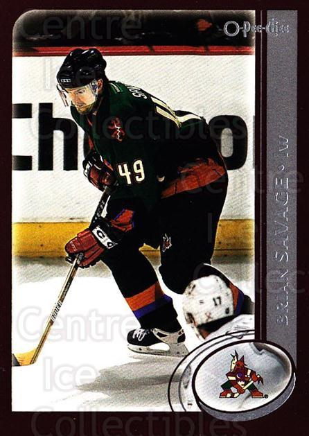 2002-03 O-Pee-Chee #120 Brian Savage<br/>7 In Stock - $1.00 each - <a href=https://centericecollectibles.foxycart.com/cart?name=2002-03%20O-Pee-Chee%20%23120%20Brian%20Savage...&quantity_max=7&price=$1.00&code=103868 class=foxycart> Buy it now! </a>