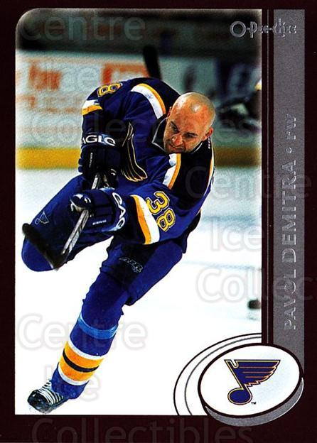2002-03 O-Pee-Chee #155 Pavol Demitra<br/>5 In Stock - $1.00 each - <a href=https://centericecollectibles.foxycart.com/cart?name=2002-03%20O-Pee-Chee%20%23155%20Pavol%20Demitra...&quantity_max=5&price=$1.00&code=103902 class=foxycart> Buy it now! </a>