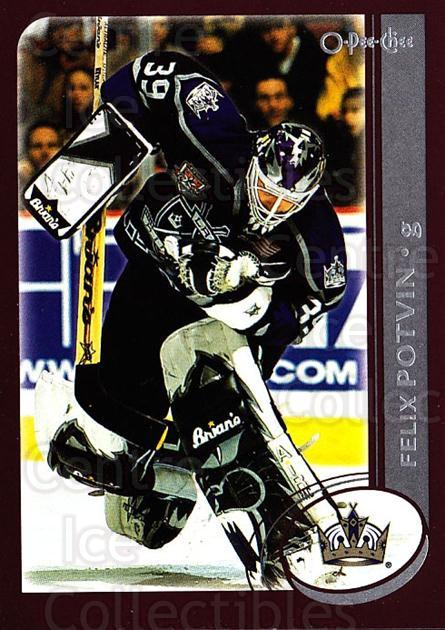 2002-03 O-Pee-Chee #18 Felix Potvin<br/>3 In Stock - $1.00 each - <a href=https://centericecollectibles.foxycart.com/cart?name=2002-03%20O-Pee-Chee%20%2318%20Felix%20Potvin...&quantity_max=3&price=$1.00&code=103930 class=foxycart> Buy it now! </a>