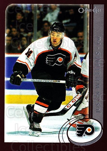 2002-03 O-Pee-Chee #184 Justin Williams<br/>5 In Stock - $1.00 each - <a href=https://centericecollectibles.foxycart.com/cart?name=2002-03%20O-Pee-Chee%20%23184%20Justin%20Williams...&quantity_max=5&price=$1.00&code=103935 class=foxycart> Buy it now! </a>