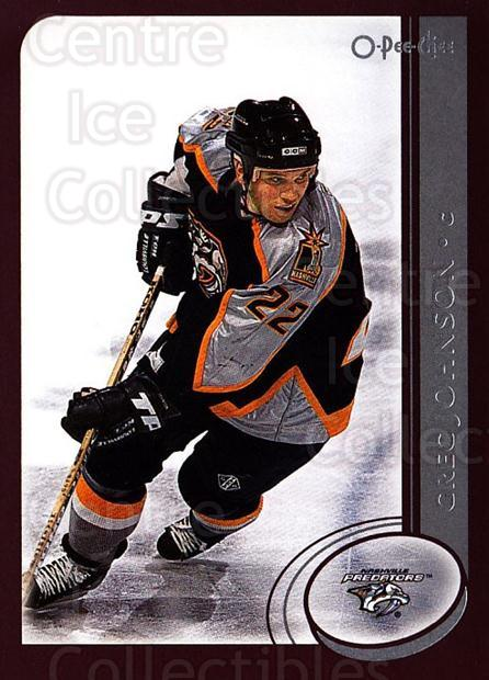 2002-03 O-Pee-Chee #185 Greg Johnson<br/>6 In Stock - $1.00 each - <a href=https://centericecollectibles.foxycart.com/cart?name=2002-03%20O-Pee-Chee%20%23185%20Greg%20Johnson...&quantity_max=6&price=$1.00&code=103936 class=foxycart> Buy it now! </a>
