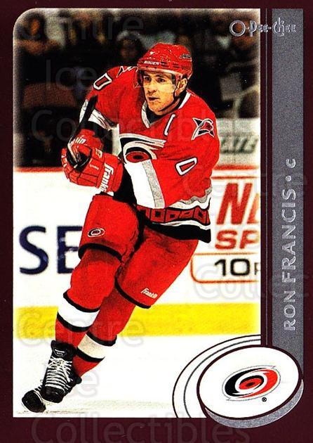 2002-03 O-Pee-Chee #19 Ron Francis<br/>6 In Stock - $1.00 each - <a href=https://centericecollectibles.foxycart.com/cart?name=2002-03%20O-Pee-Chee%20%2319%20Ron%20Francis...&quantity_max=6&price=$1.00&code=103941 class=foxycart> Buy it now! </a>