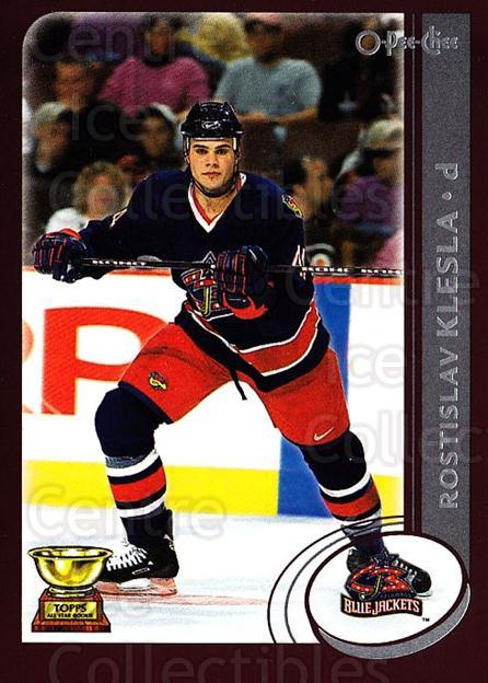 2002-03 O-Pee-Chee #21 Rostislav Klesla<br/>5 In Stock - $1.00 each - <a href=https://centericecollectibles.foxycart.com/cart?name=2002-03%20O-Pee-Chee%20%2321%20Rostislav%20Klesl...&quantity_max=5&price=$1.00&code=103963 class=foxycart> Buy it now! </a>