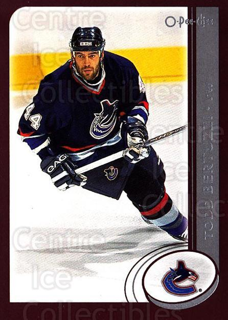 2002-03 O-Pee-Chee #217 Todd Bertuzzi<br/>5 In Stock - $1.00 each - <a href=https://centericecollectibles.foxycart.com/cart?name=2002-03%20O-Pee-Chee%20%23217%20Todd%20Bertuzzi...&quantity_max=5&price=$1.00&code=103971 class=foxycart> Buy it now! </a>