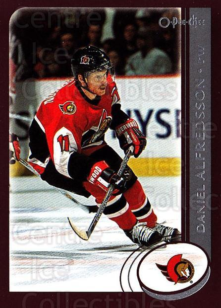 2002-03 O-Pee-Chee #23 Daniel Alfredsson<br/>5 In Stock - $1.00 each - <a href=https://centericecollectibles.foxycart.com/cart?name=2002-03%20O-Pee-Chee%20%2323%20Daniel%20Alfredss...&quantity_max=5&price=$1.00&code=103985 class=foxycart> Buy it now! </a>